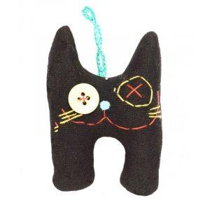Muñeco mini gato negro
