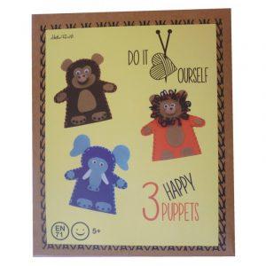 Kit infantil Marionetas de mano de fieltro