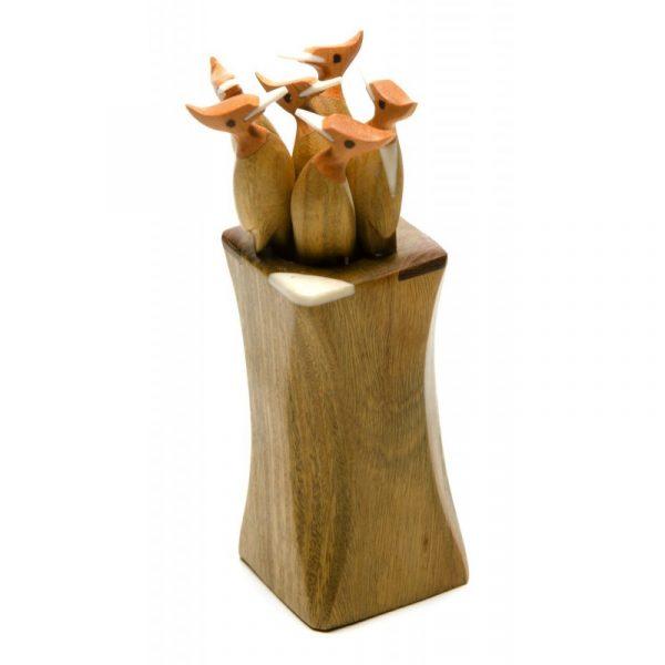 Palillero artesanal pájaro carpintero