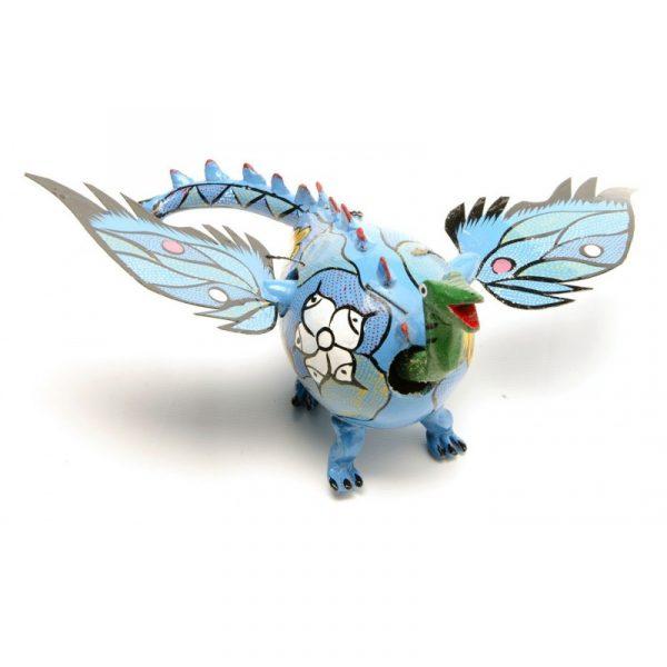Dragón alado azul
