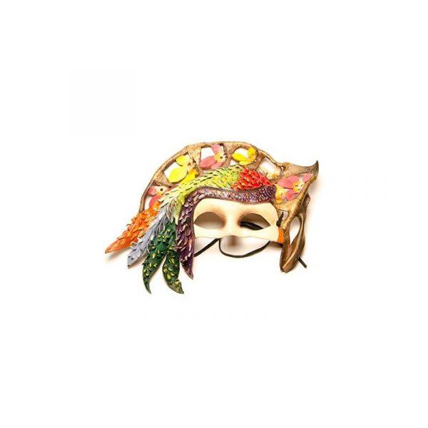 Máscara de carnaval guacamayo amarillo