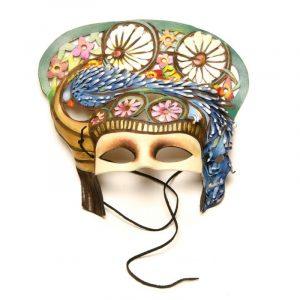 Máscara de carnaval guacamayo añil