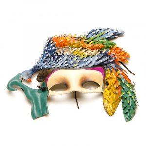 Máscara de carnaval guacamayo azul