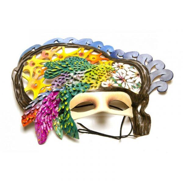 Máscara de carnaval guacamayo verde