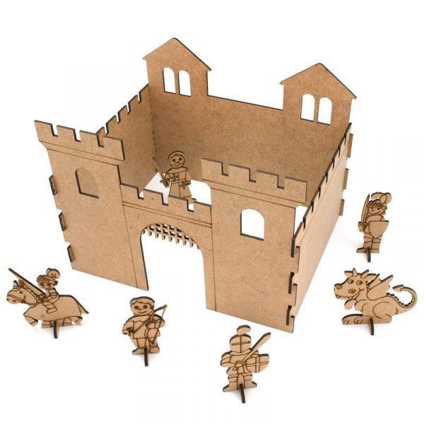 Castillo de caballeros de madera