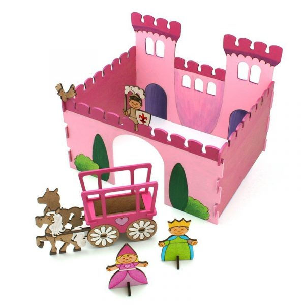 Castillo de princesas de madera