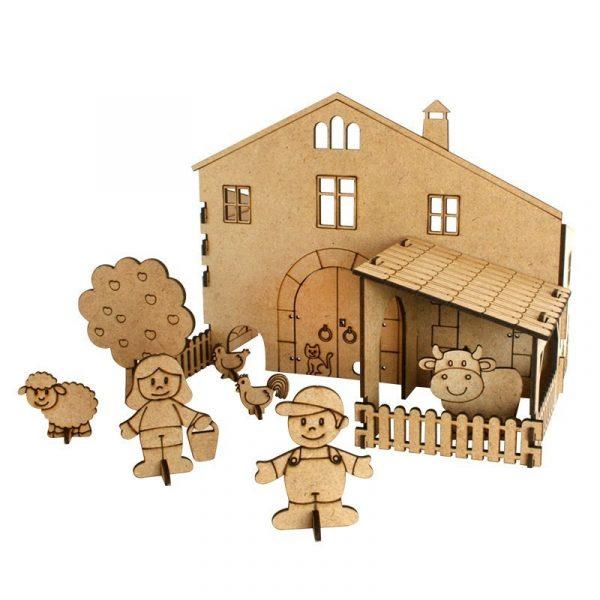 La granja de madera