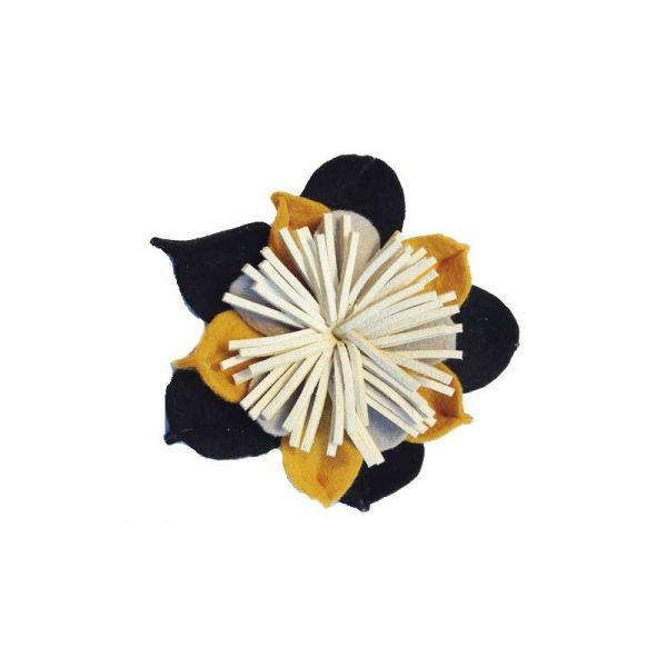 Broches de flores de fieltro melocotón