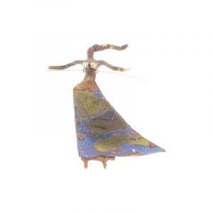Gargantilla de cobre y esmalte Mod. 5