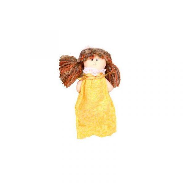 Bolsita de olor Muñeca coletas Amarilla