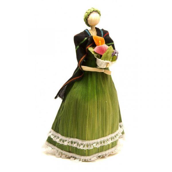 Muñeca de maíz Verde