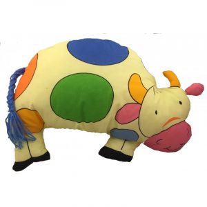 Almohadón infantil vaca